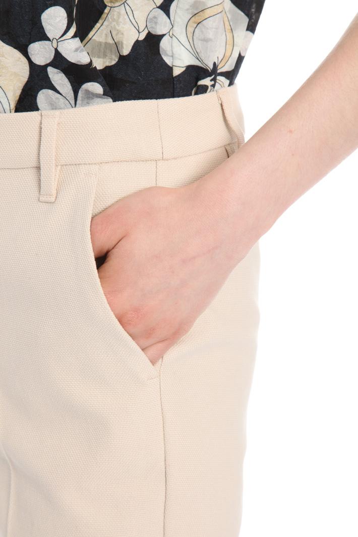 Pantalone in lino e cotone Intrend
