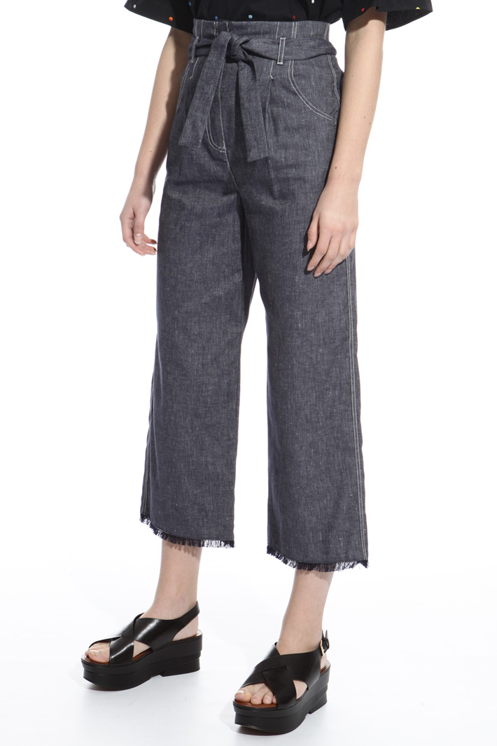 High-waisted fringe trousers Intrend