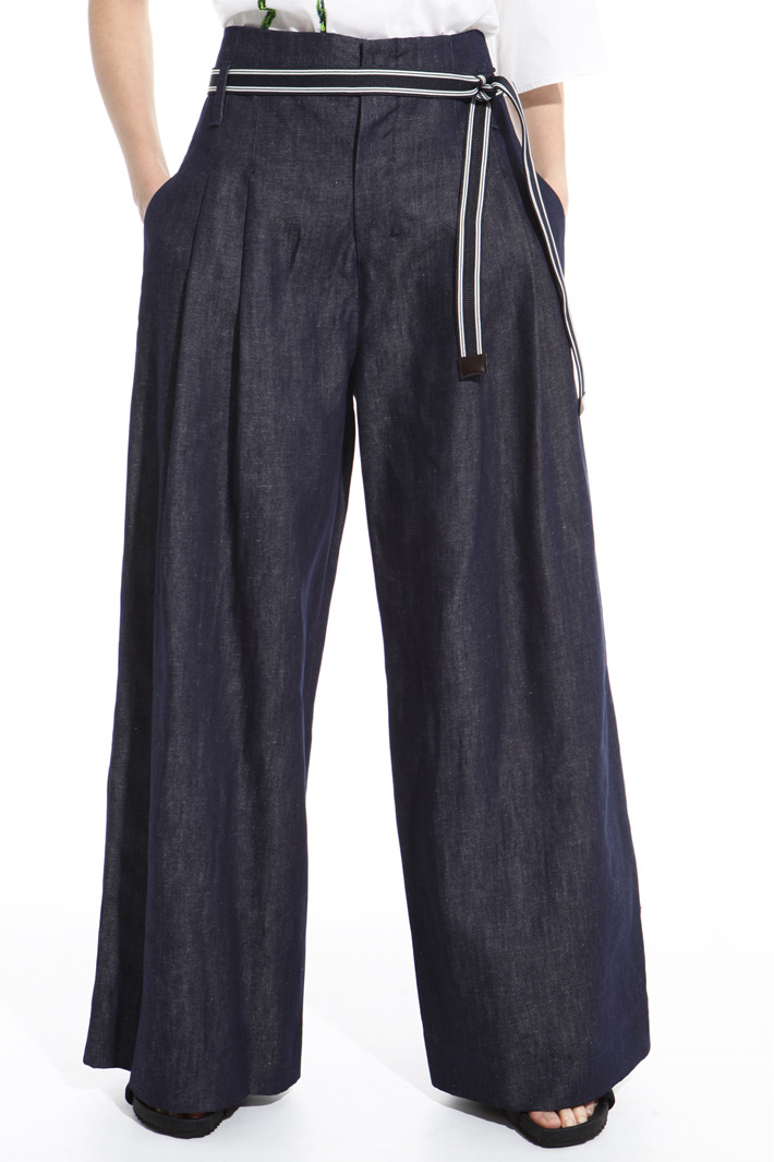 Wide-leg denim trousers Intrend