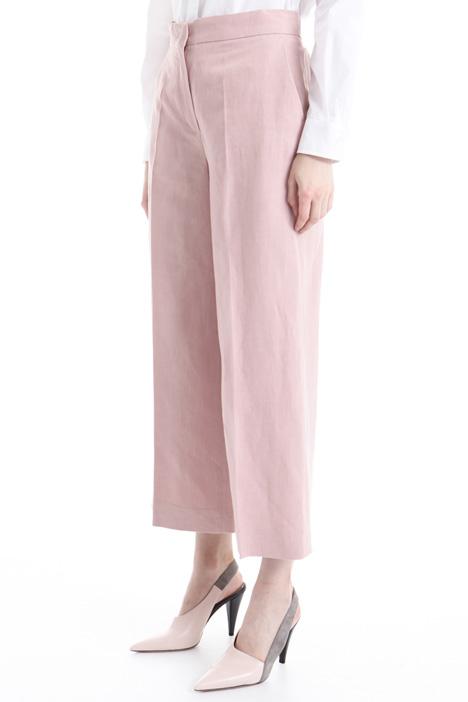 Pantalone in misto lino e seta Intrend