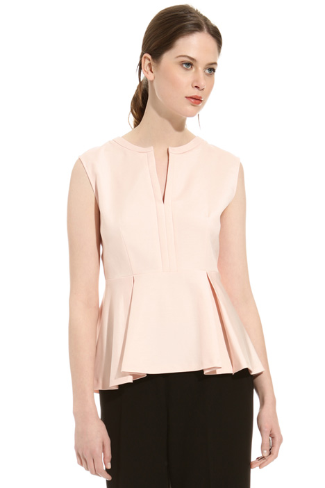 Pleated peplum top Intrend