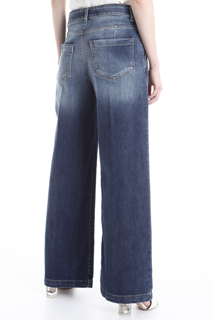 Flared denim trousers Intrend
