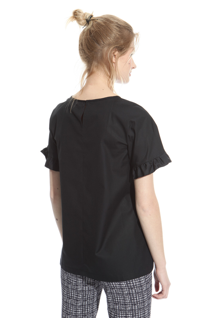 Flared poplin top Intrend