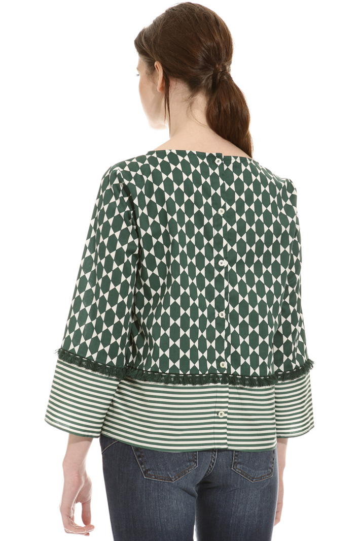 Fringed muslin blouse Intrend