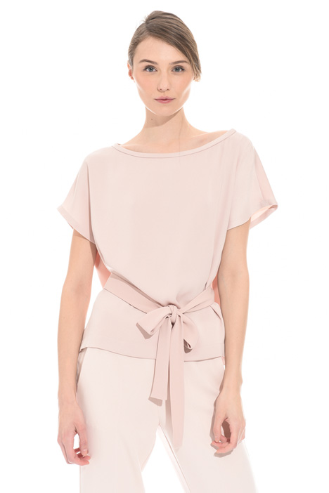 Belted boxy top Intrend