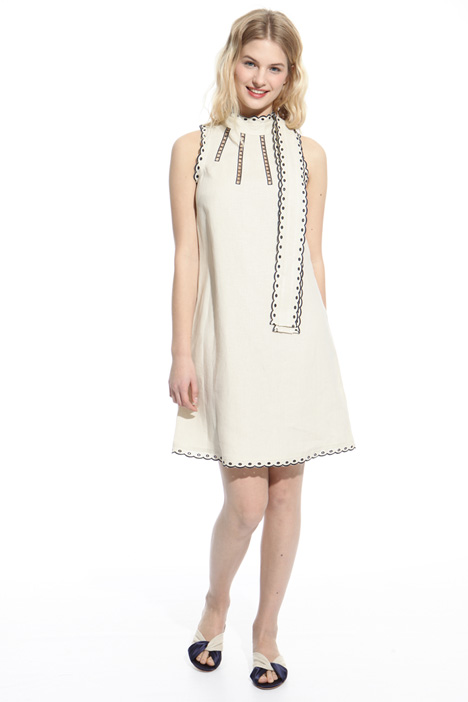 Scalloped trim dress Intrend