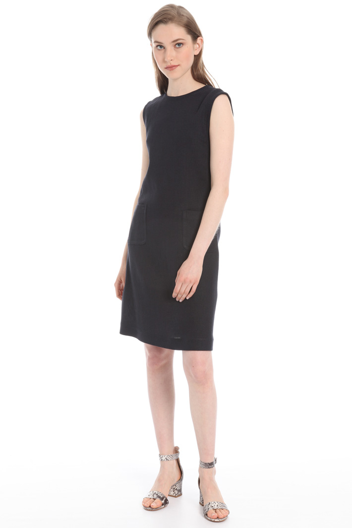 Cotton and linen dress Intrend