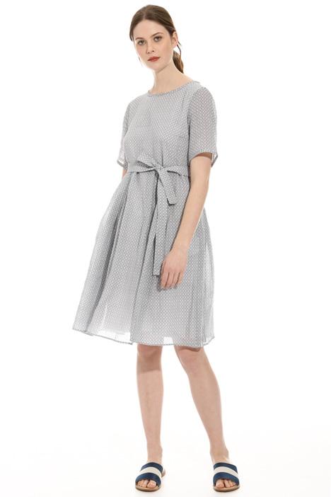 Printed ramie dress Intrend
