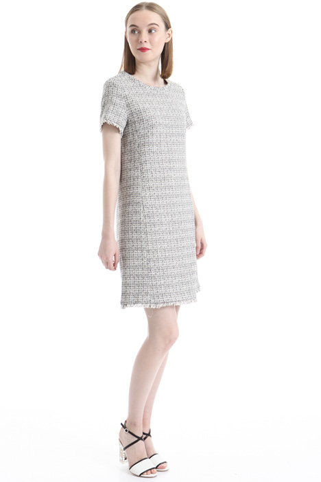 Lurex blend fabric dress Intrend