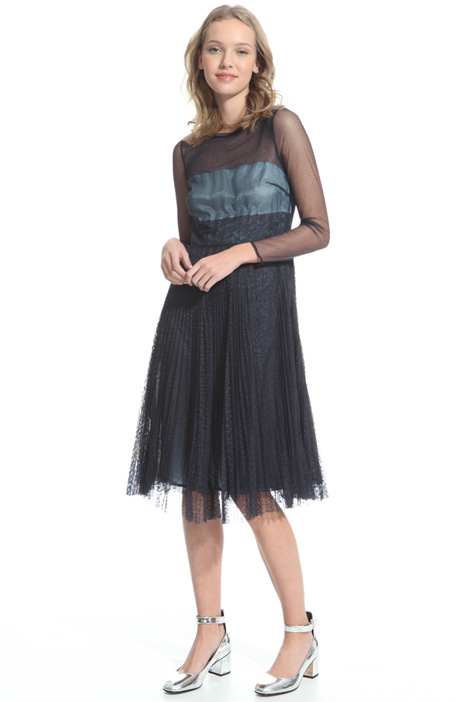 Dress in pleated tulle Intrend