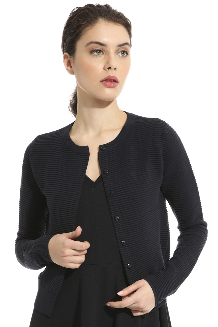 Viscose ottoman cardigan Intrend
