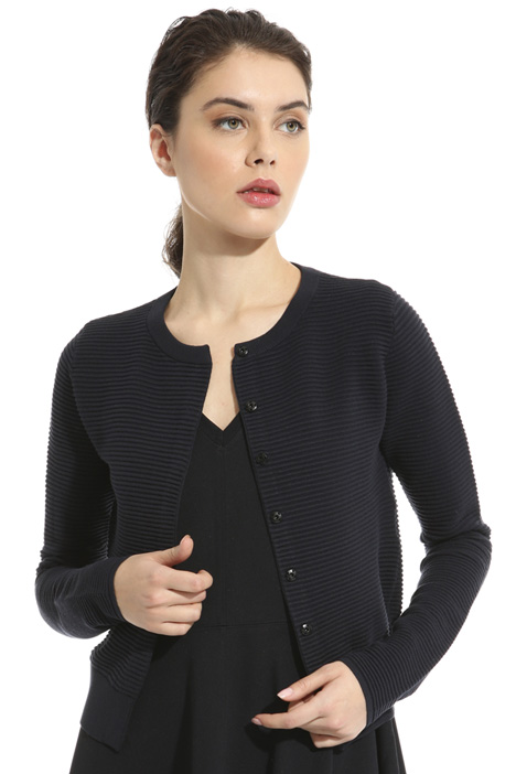 Cardigan in viscosa ottoman Intrend