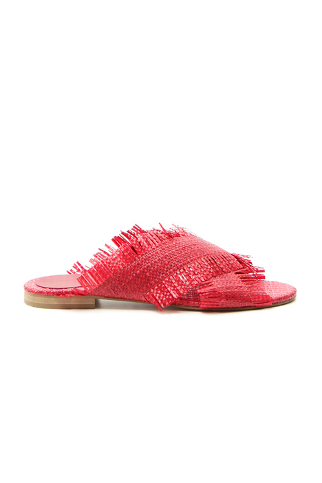 Raffia slippers  Intrend