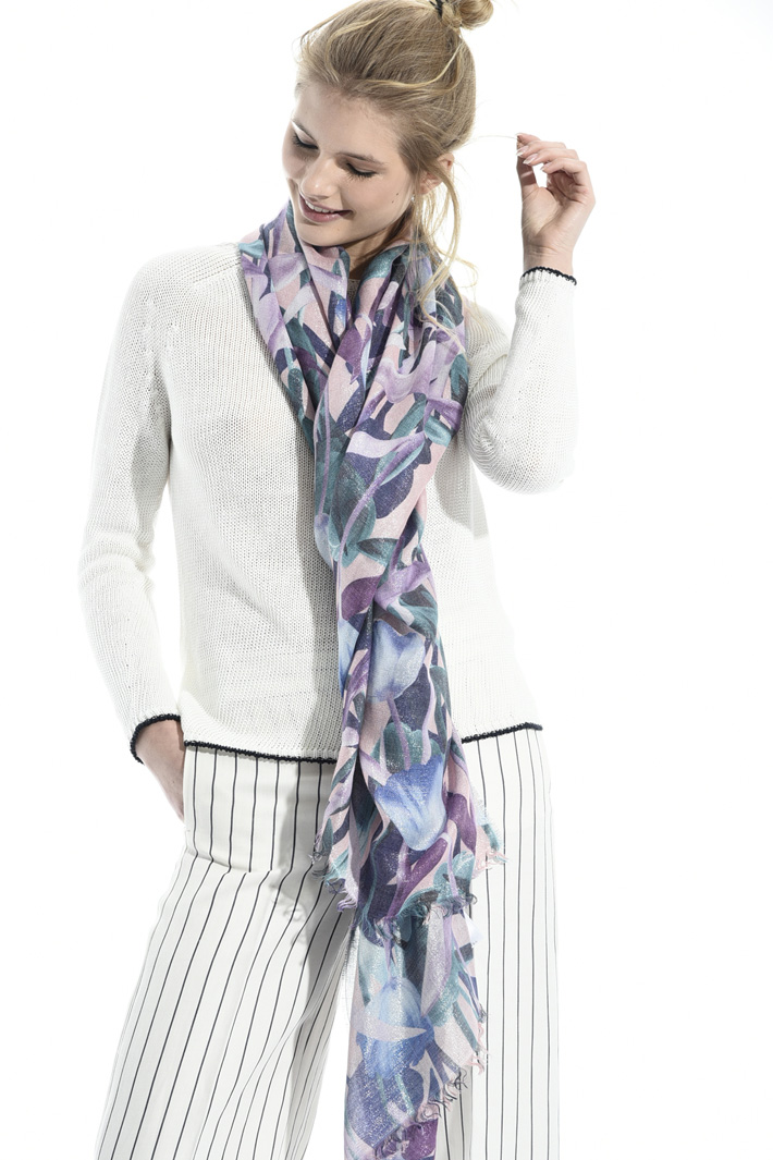 Printed lurex scarf Intrend