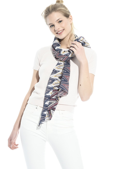 Cotton and silk scarf Intrend