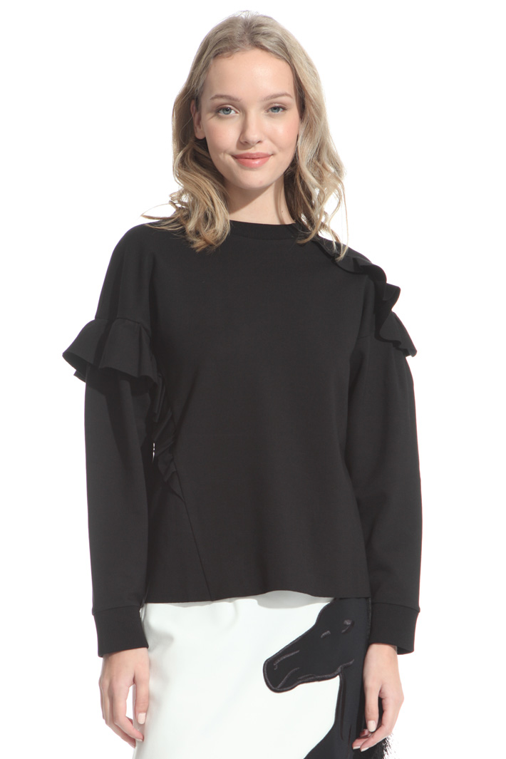 Frilled sweatshirt Intrend