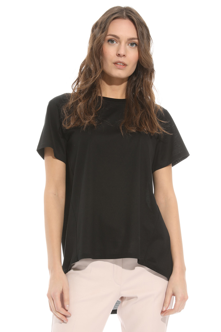 Cotton satin T-shirt Intrend