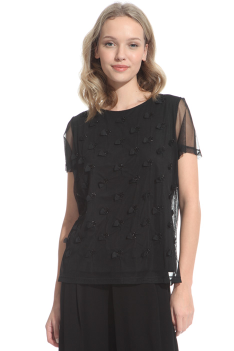 Embroidered tulle T-shirt Intrend