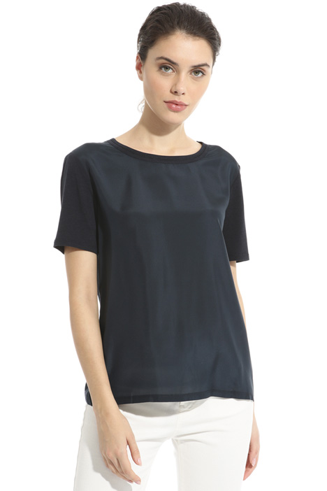 T-shirt in jersey e crepe Intrend