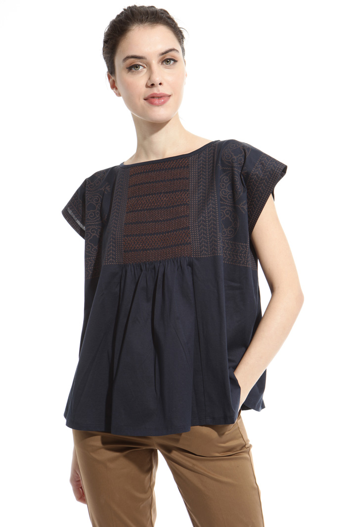 Smock detail top Intrend