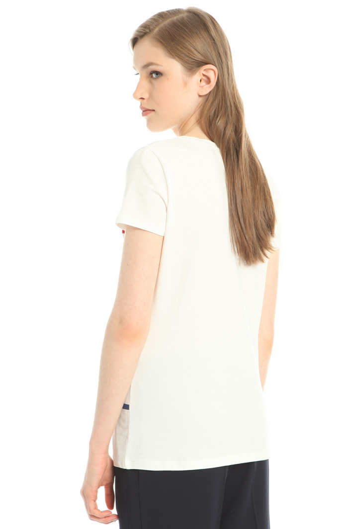 Printed and embroidered T-shirt Intrend