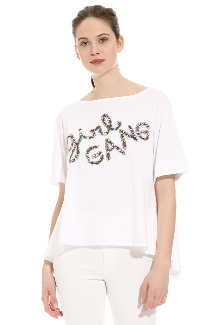 T-shirt svasata in cotone Intrend