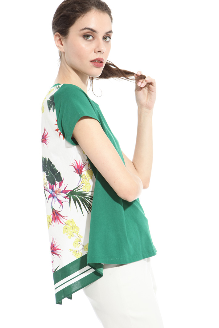 Printed panel T-shirt Intrend
