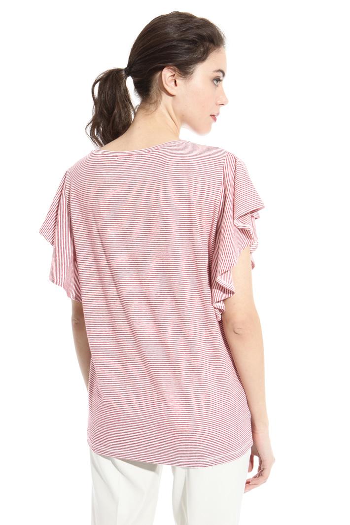 T-shirt in lino e cotone Intrend