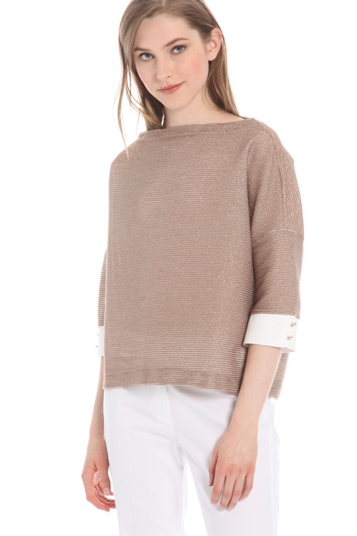 Crepe cuff sweater Intrend