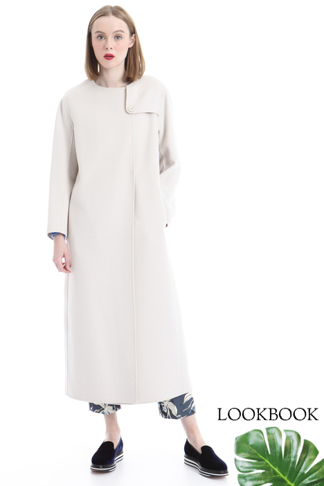 Cappotto in doppio di lana, bianco Diffusione Tessile