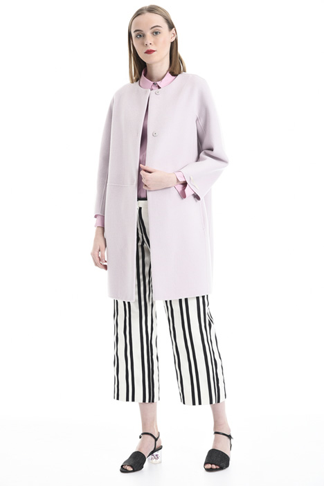 Egg-shaped wool coat Intrend