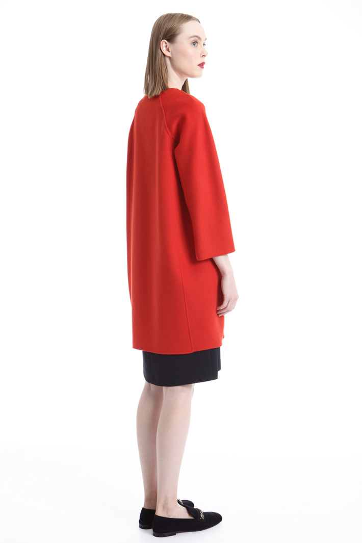 Cappotto a uovo in lana Intrend