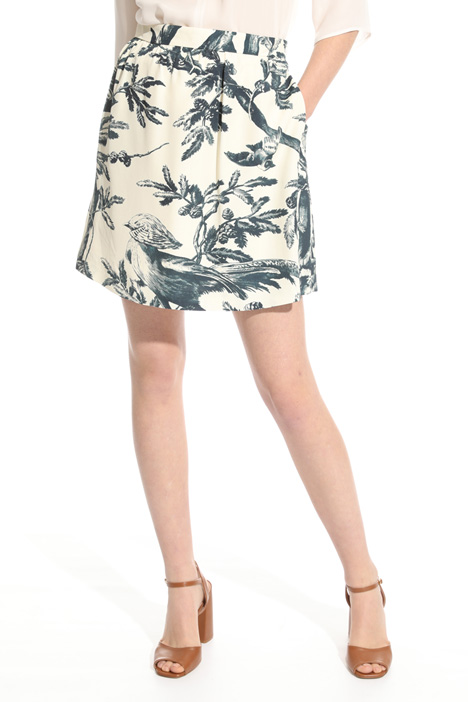 Mini skirt in fluid fabric Intrend
