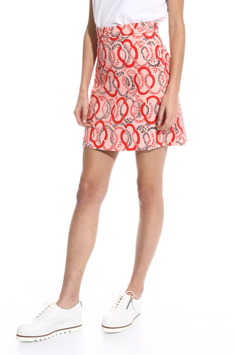 Printed pique skirt  Intrend