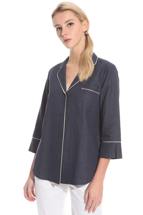 Denim-effect twill tunic Intrend