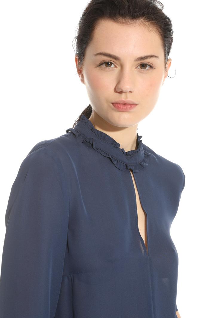 Blusa in georgette di seta Intrend