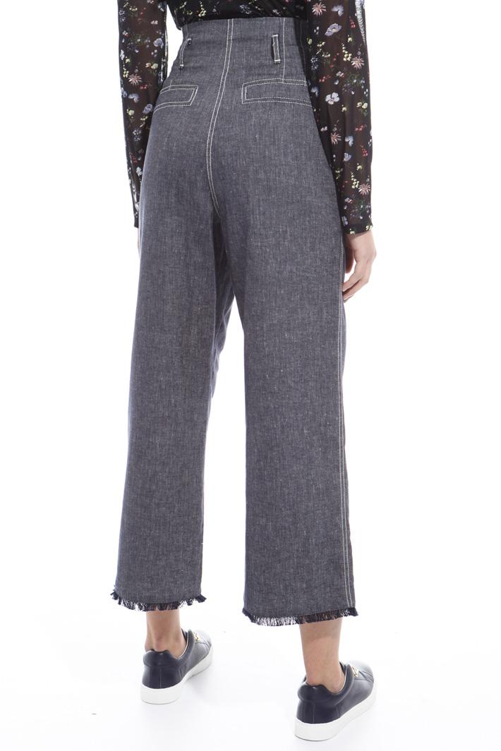 Pantalone sfrangiato vita alta Intrend