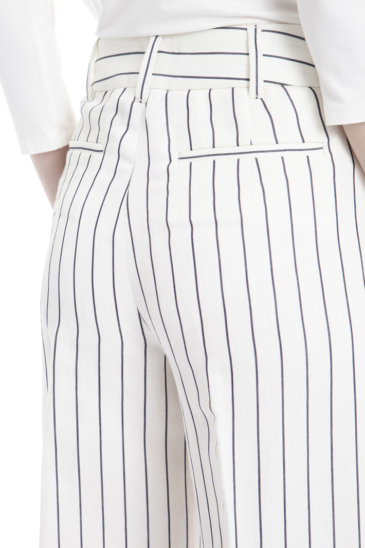 Pantalone in raso ramié Intrend