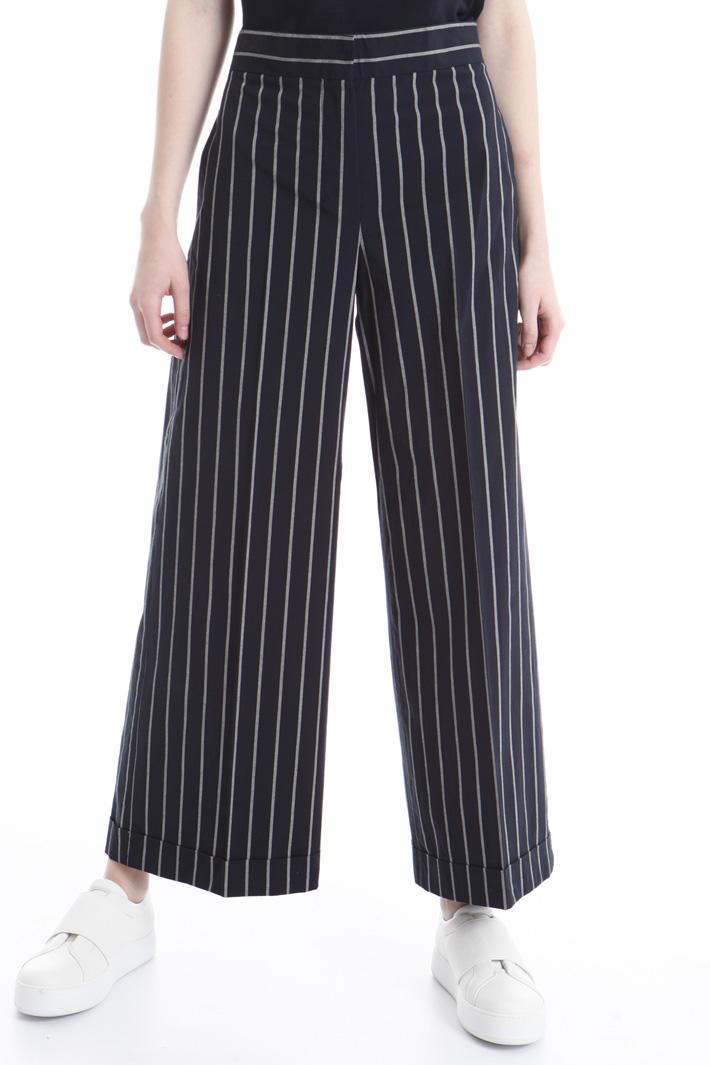 Pantalone in tela di cotone Intrend