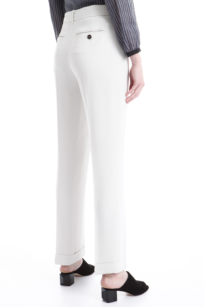 Pantalone a sigaretta in cady Intrend