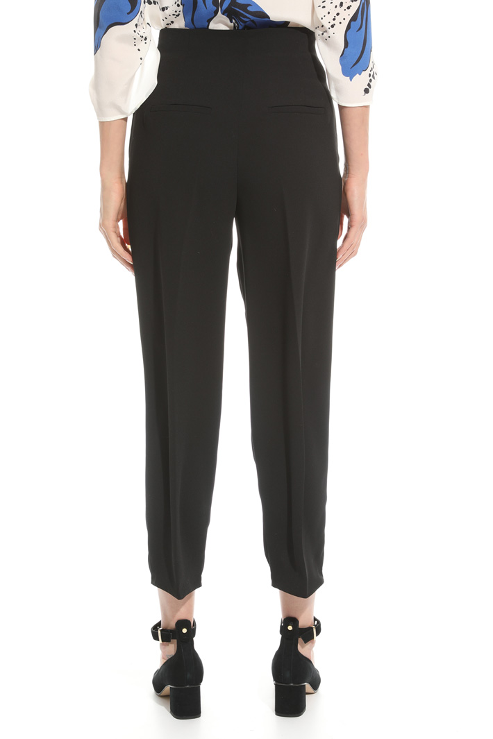High-waisted cady trousers Intrend