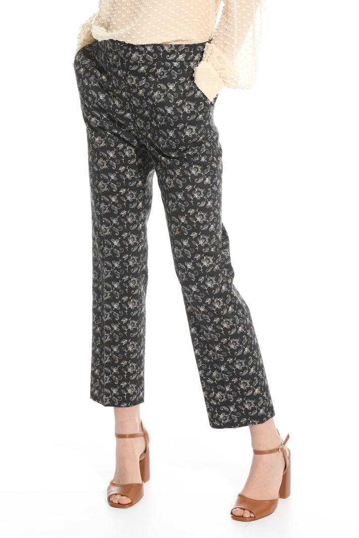 Pantalone in piquet stretch Intrend