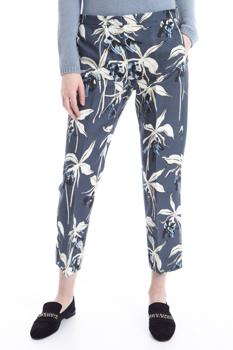 Printed interwoven trousers Intrend