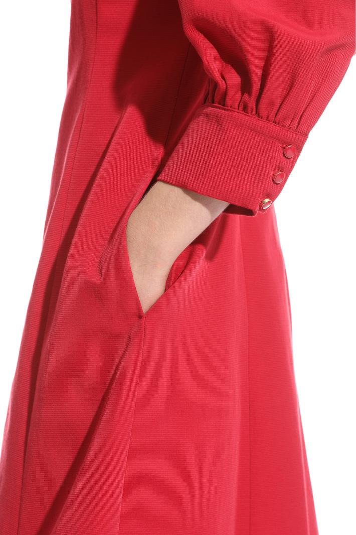 Bow detail ottoman dress Intrend