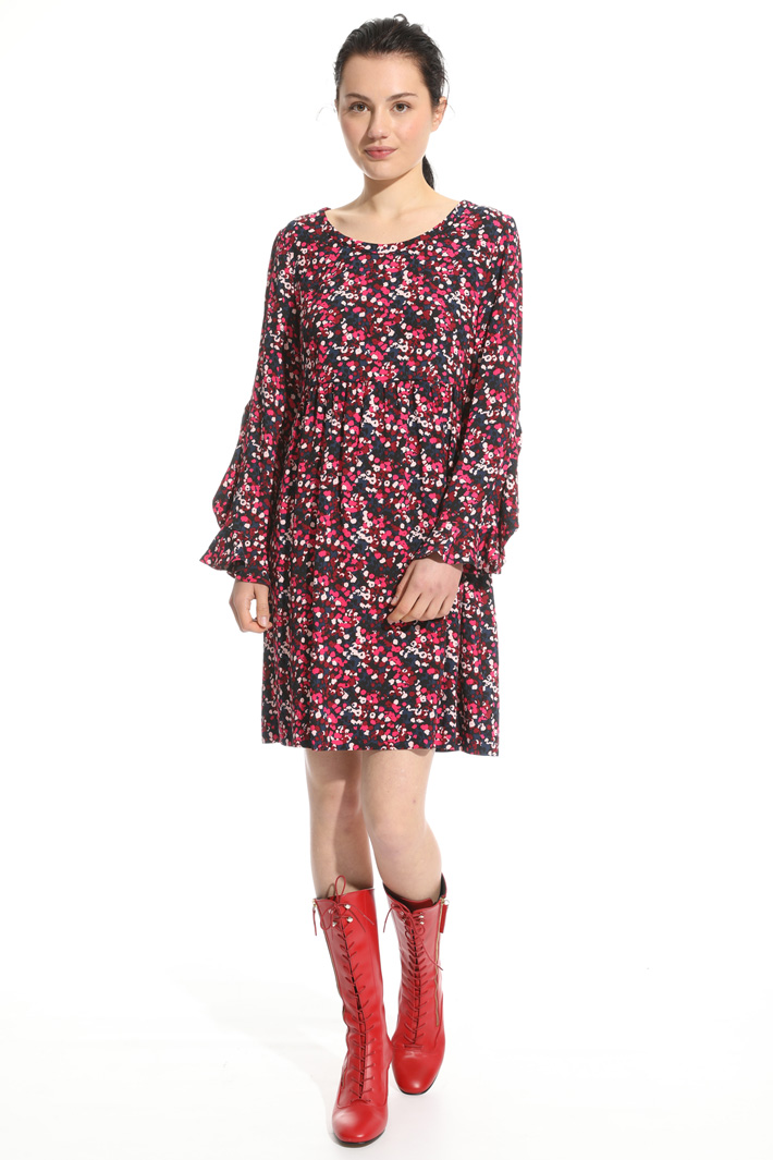 Flared flounced dress Intrend