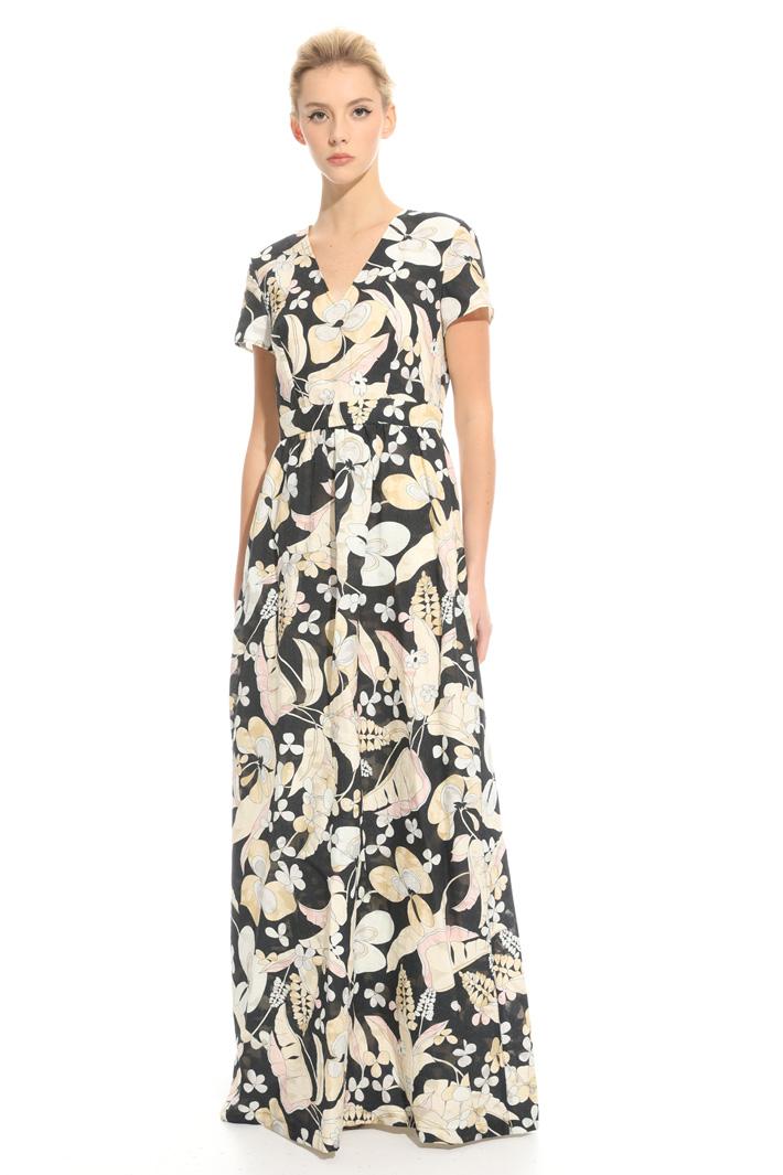 Printed fil coupé dress Intrend