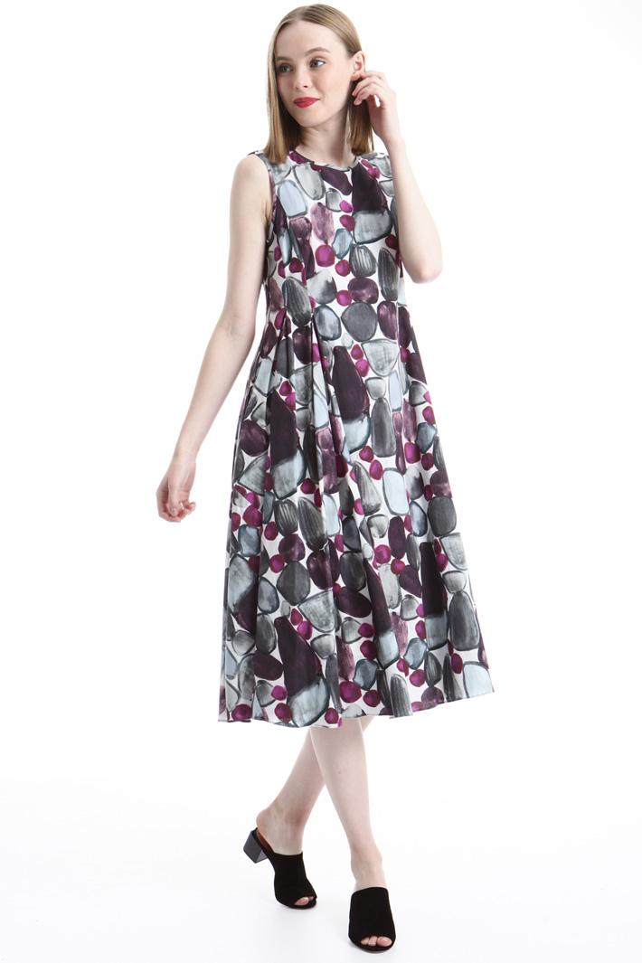Printed poplin dress Intrend