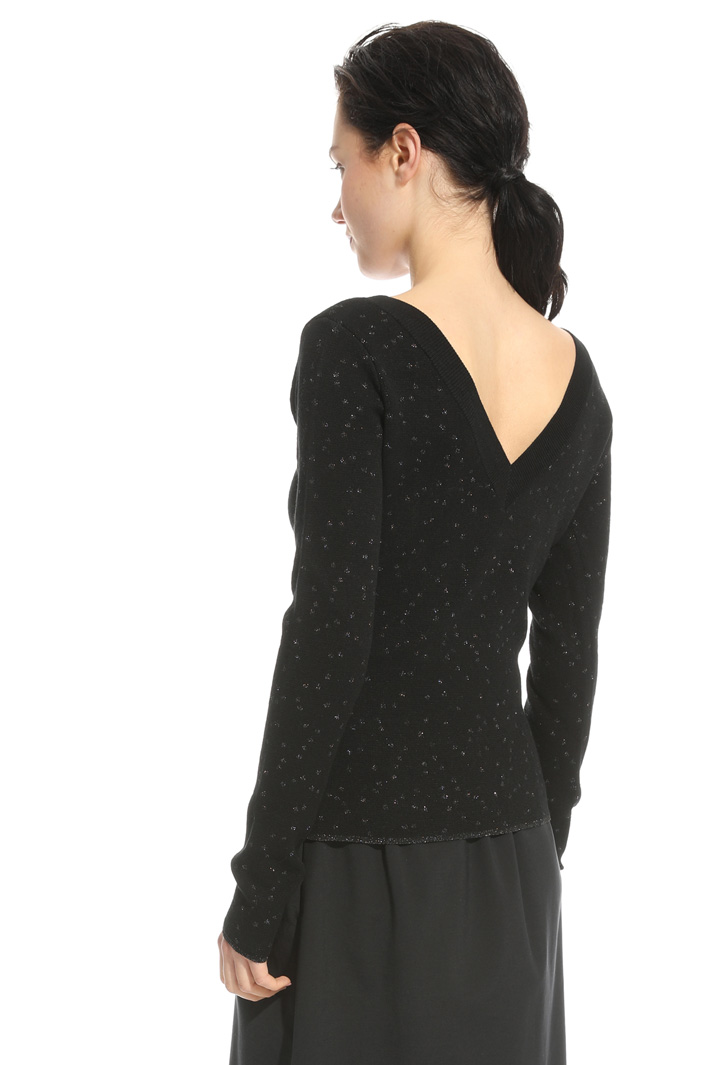 V-neck jacquard sweater Intrend