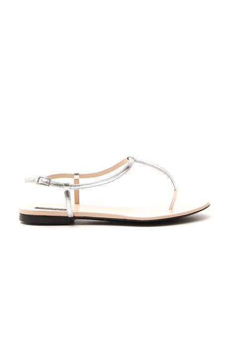 Sandali in pelle metalizzata Intrend