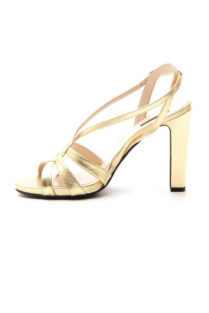 Metallised leather sandals Intrend
